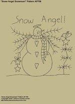 """Primitive Stitchery E-Pattern, """"Snow Angel!"""""""