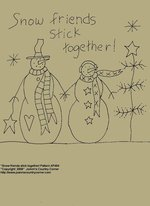 "Primitive Stitchery E-Pattern, ""Snow friends stick together!"