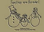 "Primitive Stitchery Pattern ""Families Are Forever!"""