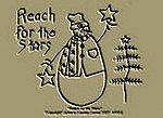 "Primitive Stitchery Snowman Pattern ""Reach For The Stars!"""