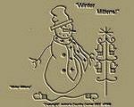 "Primitive Stitchery Pattern "" Winter Mittens!"""