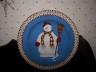 Debbie Mumm Snowman Plate with Red Scarf, Mittens, & Broom!