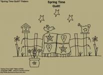 "Primitive Stitchery Pattern, ""Spring Time Quilt! Pattern"