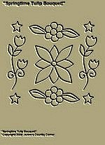 "Primitive Stitchery Pattern, Prim ""Springtime Tulip Bouquet!"""