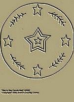 "Primitive Stitchery Pattern Candle Mat ""Star in Star!"""