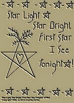 "Primitive Stitchery Pattern Primitive "" Star Light, Star Bright, First Star I See Tonight!"
