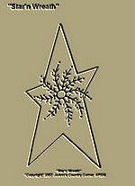 "Primitive Stitchery Pattern ""Star'n Wreath"""