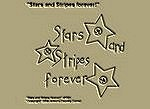 "Primitive Stitchery E-Pattern, Prim ""Stars and Stripes forever!"""