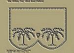 "Primitive Stitchery Pattern ""Star Willow Tree!"" Shelf Scarf Pattern!"