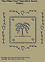 "Primitive Stitchery Pattern,""Star Willow Tree!"" Spice Mat & Sachet Patten!"