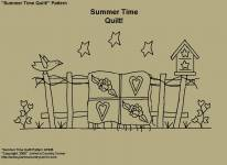 "Primitive Stitchery Pattern, ""Summer Time Quilt!"""