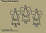"Primitive Stitchery Pattern, Prim ""Three Little Angels!"""