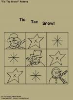 "Primitive Stitchery Pattern, "" Tic Tac Snow!"""