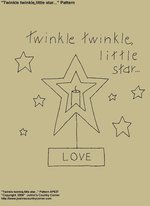 "Primitive Stitchery Pattern, ""Twinkle twinkle little star...!"