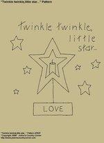 """Primitive Stitchery E-Pattern, """"Twinkle twinkle little star...!"""""""