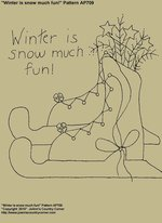 "Primitive Stitchery E-Pattern, ""Winter is snow much fun!"" Pattern"