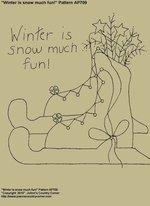 "Primitive Stitchery E-Pattern, ""Winter is snow much fun!"""