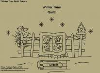 "Primitive Stitchery Pattern, ""Winter Time Quilt!"